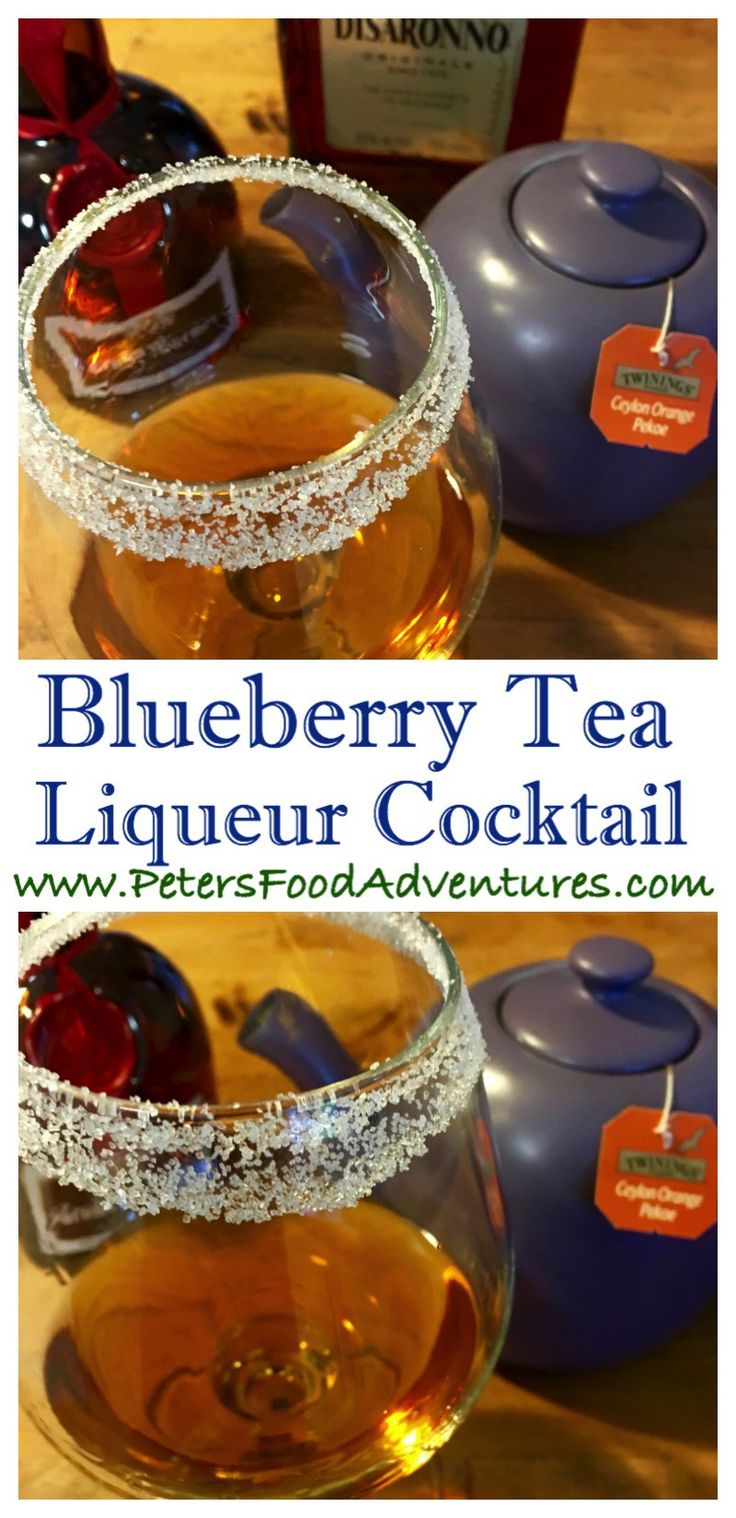 This Delicious and Warming Hot Blueberry Tea Cocktail has Grand Marnier, Amaretto and Orange Pekoe tea which tastes fruity, with a hint of blueberries. Add orange slice and cinnamon stick
