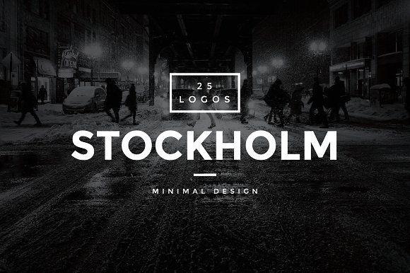 Stockholm - 25 Modern Vintage Logos by WornOutMedia Co. on @creativemarket