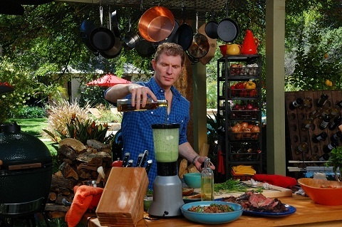 I Love All The Gadets Bobby Flay Has In His Outdoor Kitchen.