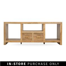 crudo tv unit mango wood