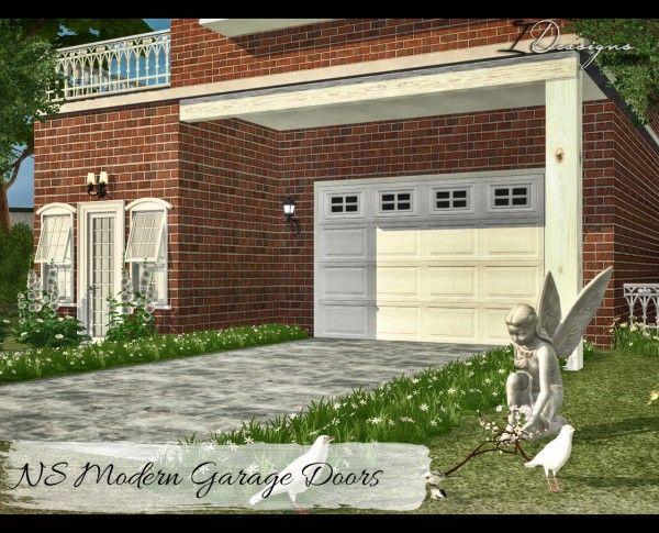 Sims 4 designs ns modern garage doors sims 4 downloads for Garage door patterns