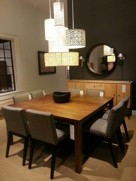 "Dining room table ""Andover"" 60in square dining room table in walnut...room & board"