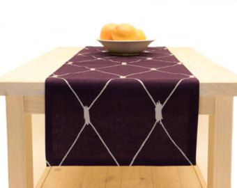 Purple Table Runner Purple, Table Runner Purple And Silver 72 Inches, 90  Inches, 108 Inches, 120 Inches Long