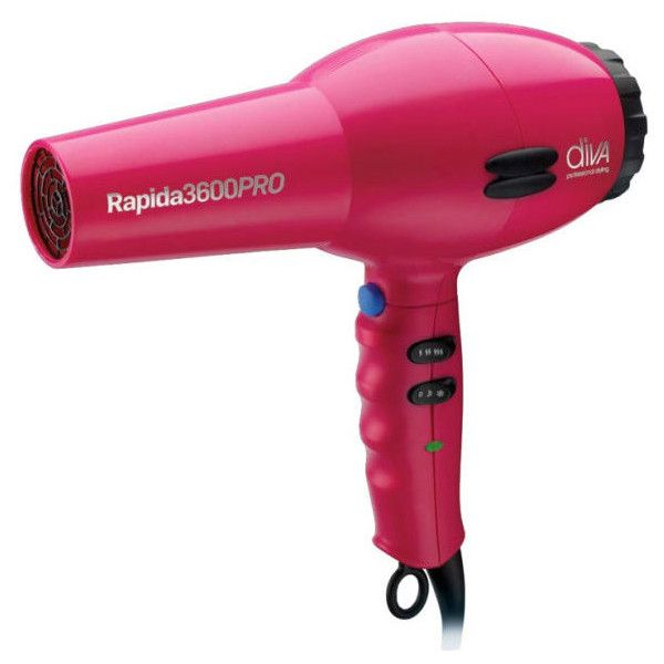 Diva Professional Styling Diva Professional Rapida 3600 2000W... ($64) ❤ liked on Polyvore featuring beauty products, haircare, hair styling tools, blow dryers & irons, blow dryer and hair blow dryer