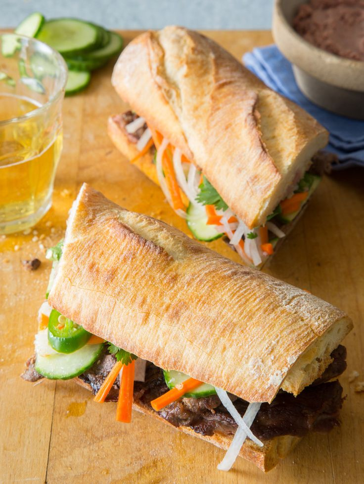 Lemongrass Beef Banh Mi from Spoon Fork Bacon? Yes, please.