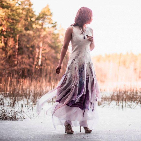 Alternative Wedding Dress Bohemian Felt Bridal