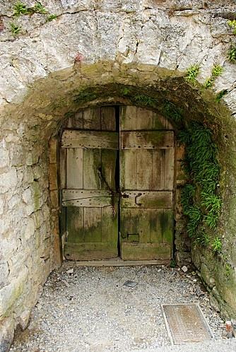 Door in Aveyron, France