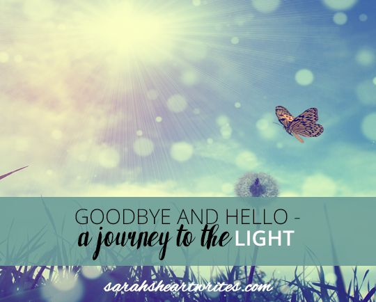 """Goodbye and hello - a journey to the light """"I will be reminding myself that when I leave, I will be returning to a light-filled house that is able to breathe, with views forever, and I will be able to drink in that space and air, filling my lungs to the brim with a new energy.  I will be reminding myself that the new house, though an old girl, has much to offer and we will be giving her a new lease on life, as much as she will be giving us the same.  A new symbiosis will be forged."""""""