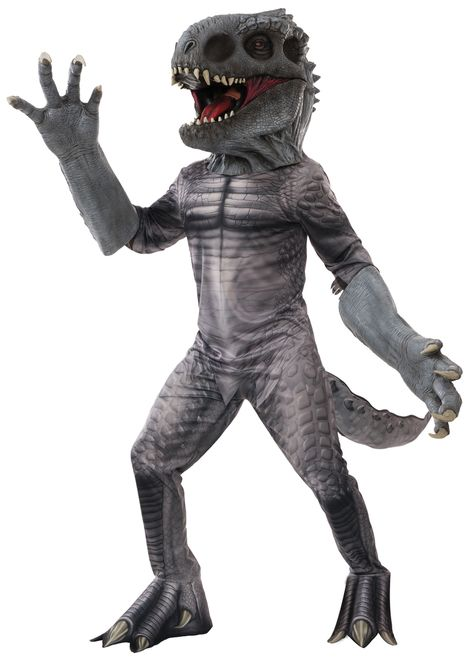 Indominus Rex Creature Reacher Jurassic World Supreme Costume - The genetically modified Indominus Rex breaks lose, wrecking havoc in Jurassic World. This supreme Creature Reacher costume is the real deal. Comes with mask, hands, shirt and pants. A collectors item perfect for Halloween, comic con or watching the movie! #YYC #Calgary #Costume #IndominusRex #creatureReacher #JurassicWorld