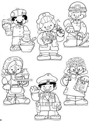 atividades sobre profissões no pre escolar - Pesquisa Google