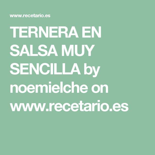 TERNERA EN SALSA MUY SENCILLA by noemielche  on www.recetario.es