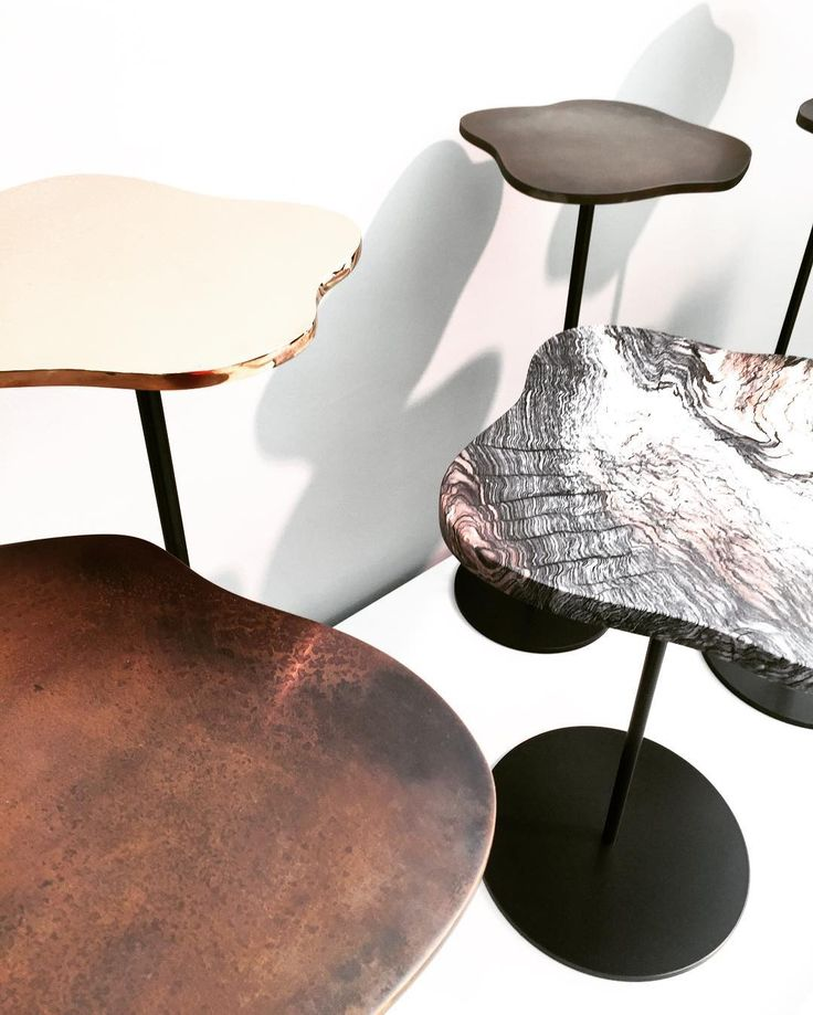 A beautiful shot of our new Grace side tables - available with steel, bronze or marble tops. Thank you Jilly Smith!