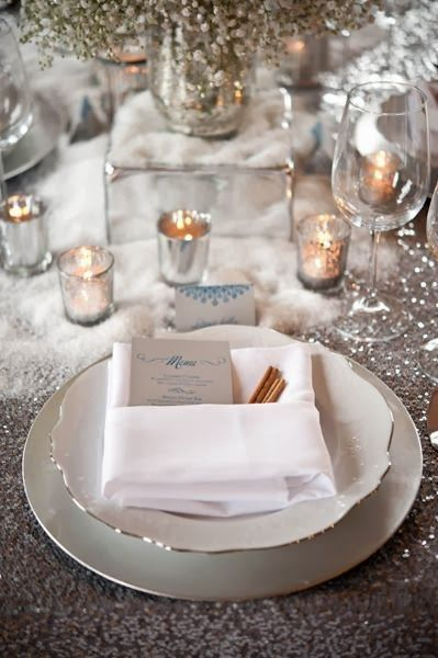 Conceptualize the scenography of a winter wedding #winterwedding #decor #table #decoration #wedding