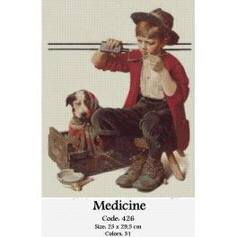Needlepoint Cross Stitch Set - Medicine