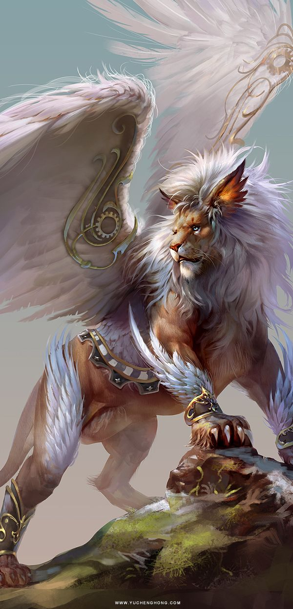 Card Game Illustration by Yu Cheng Hong, via Behance, Fantasy creatures