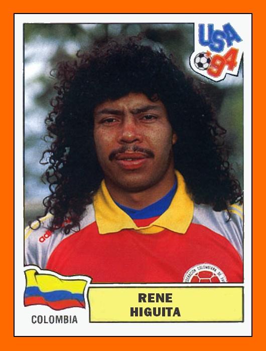 Rene Higuita, legendary Colombian goalie >> http://nl.wikipedia.org/wiki/Ren%C3%A9_Higuita