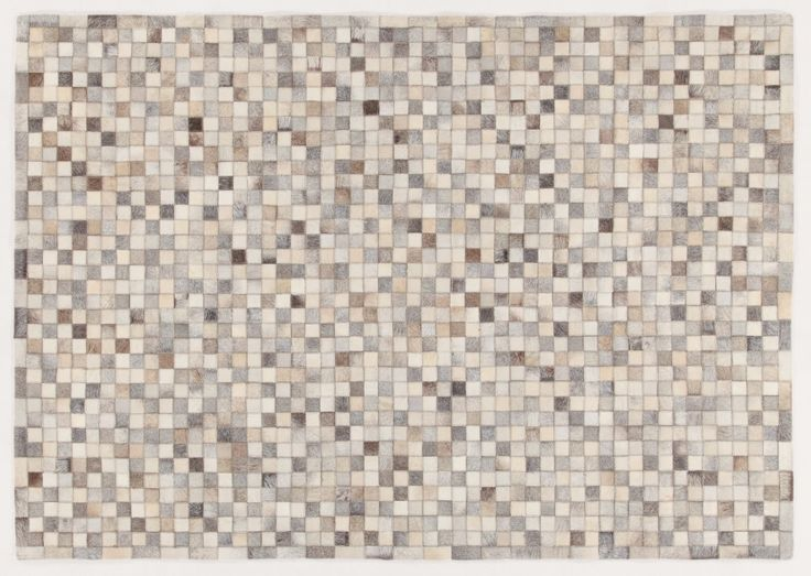 LEATHER PATCHWORK MOSAIC GREY RUG - Brand News 2017 in 100% pure selected cowhide