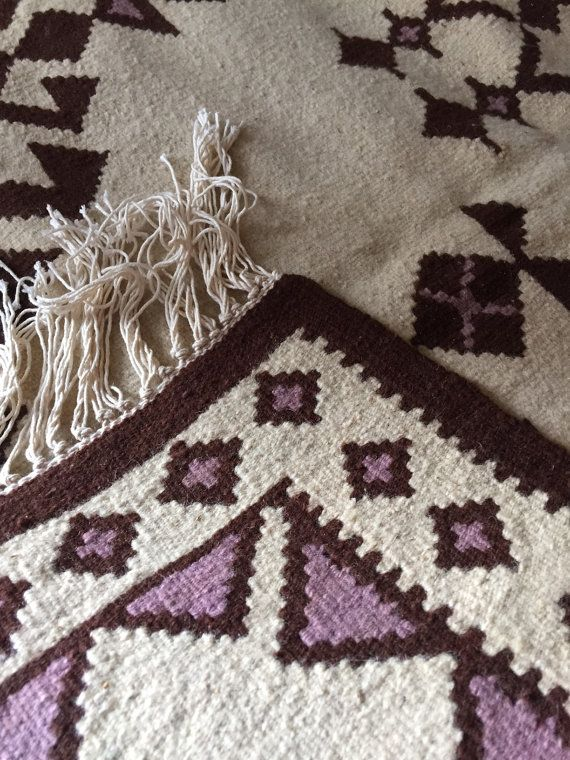 "Vintage Balkan Kilim Rug ""KOTLENSKI"", Geometric pattern, Tree of Life Pattern, Handmade rug, Bohemian rug, Boho rug, Carpet wool"