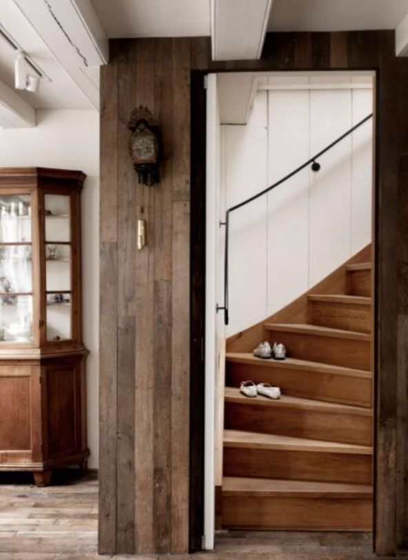 "This wooden stairway is from feature ""Canal Chic"""