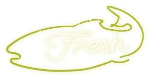 Fresh Neon Fish Sign