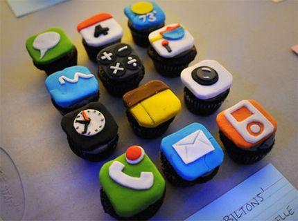 iphone icons :D cupcakes!: Iphone App, Idea, Recipe, Sweet, App Cupcakes, Food, Cup Cake, Iphonecupcakes