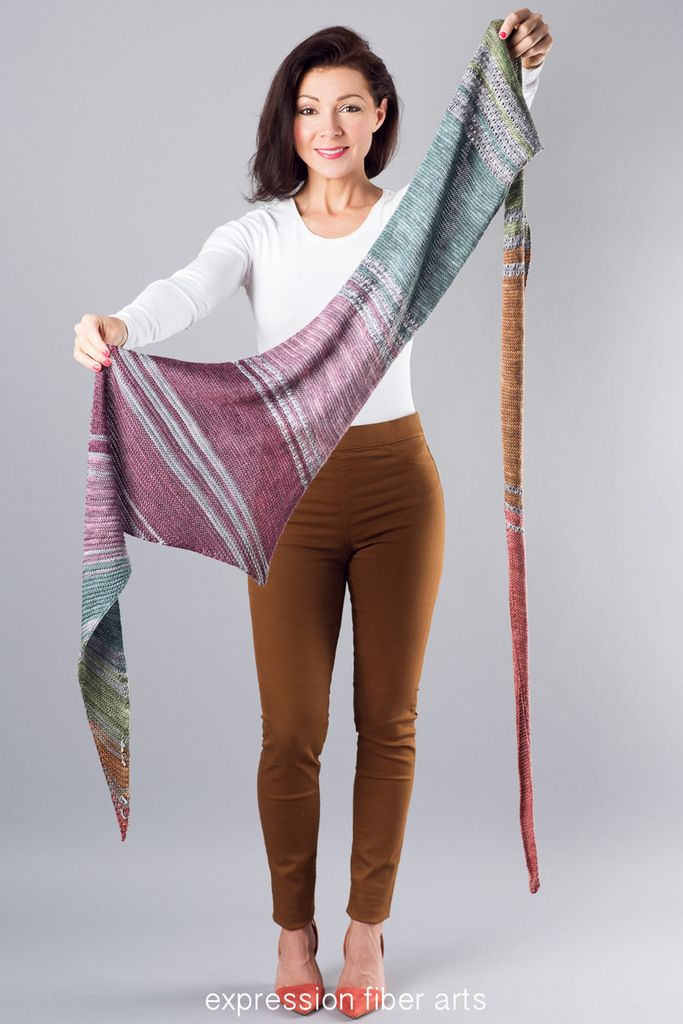 Star Train Knitted Shawl Pattern by Emily Walton for Expression Fiber Arts