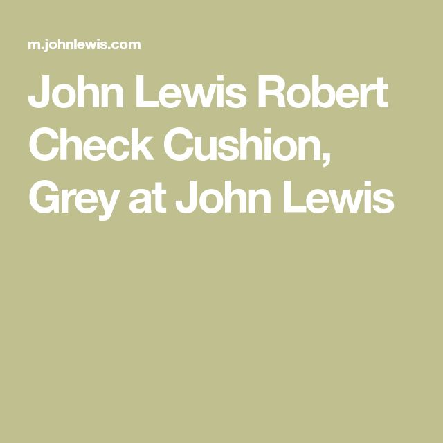 John Lewis Robert Check Cushion, Grey at John Lewis