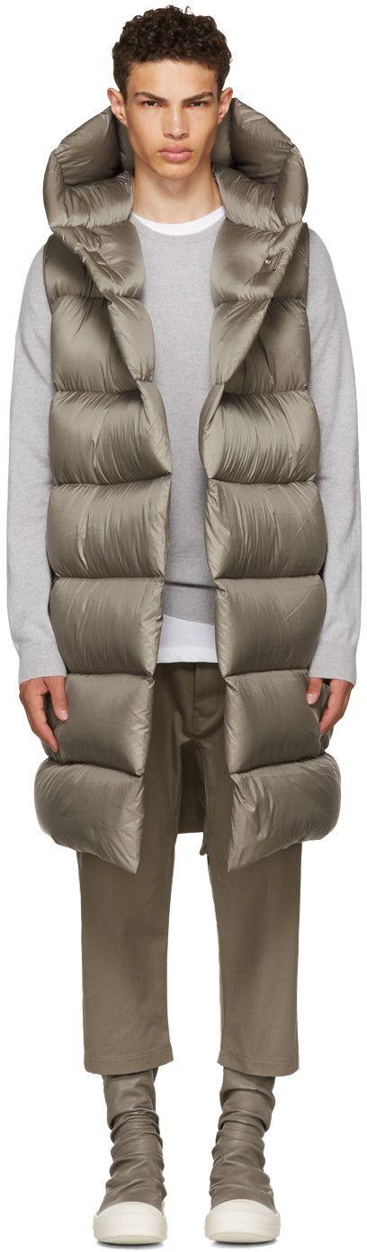 Rick Owens - Grey Down Liner Vest