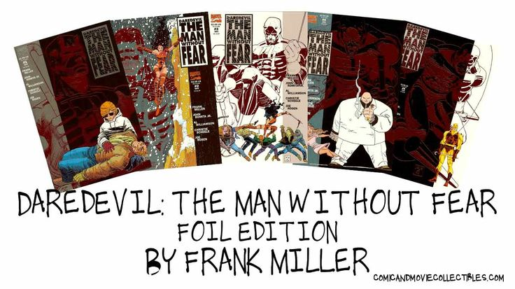 "It is the 23rd anniversary of ""Daredevil: The Man Without Fear"" #1-5 Foil Editions by Frank Miller, first published in October 1993! Be sure to click to learn more. http://comicandmoviecollectibles.com/comic-books-daredevil-the-man-without-fear-1-5-foil-editions-by-frank-miller/ #comics #ComicBooks #collectibles #camcollectibles #DareDevil #FrankMiller #FoilEdition"