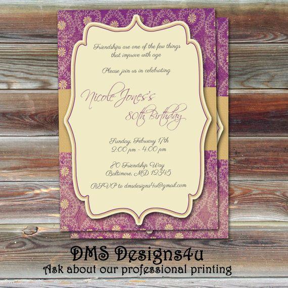 25 best 50th birthday invites images on pinterest invitations 50 diy milestone birthday invitation or any occasion printable filmwisefo