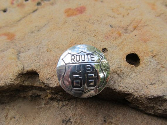 Sterling Silver Route 66 Highway Tie Tack Tac by FayWestDesigns, $21.00