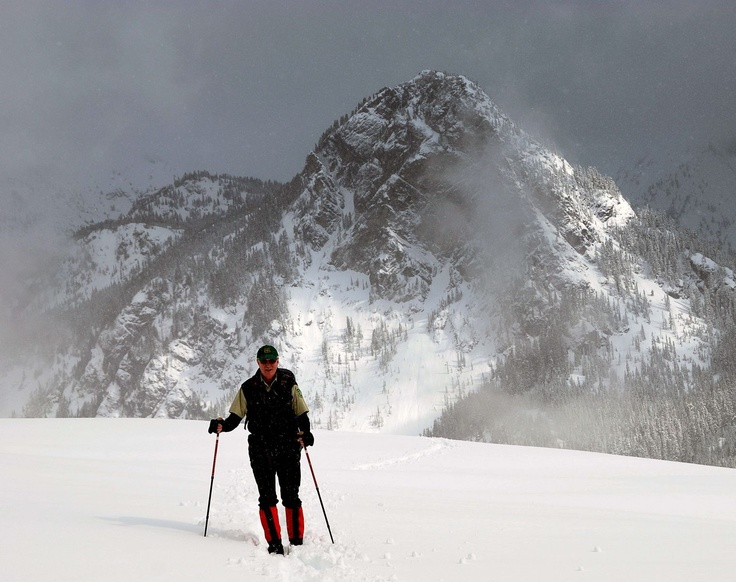 Snowshoeing trip in the Cascade mountains.