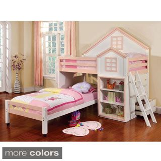 Furniture of America Ecandor House Inspired Youth Loft Bed   Overstock.com Shopping - The Best Deals on Kids' Beds