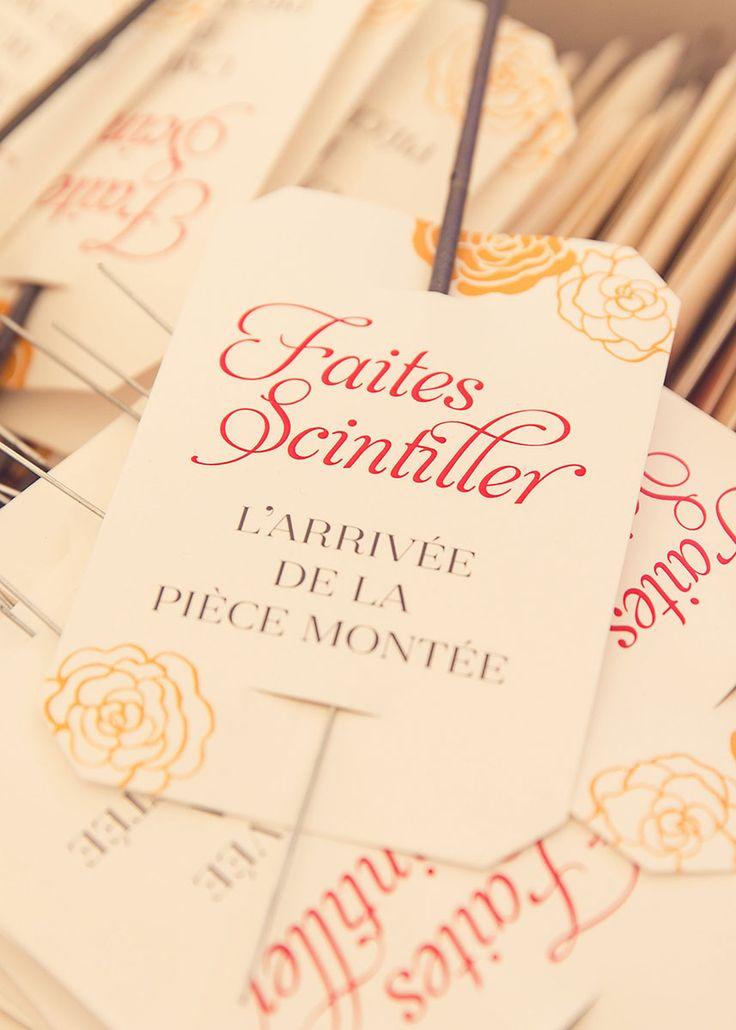 L'Atelier Letterpress – Etiquette de cierge magique biseautée, création sur me…