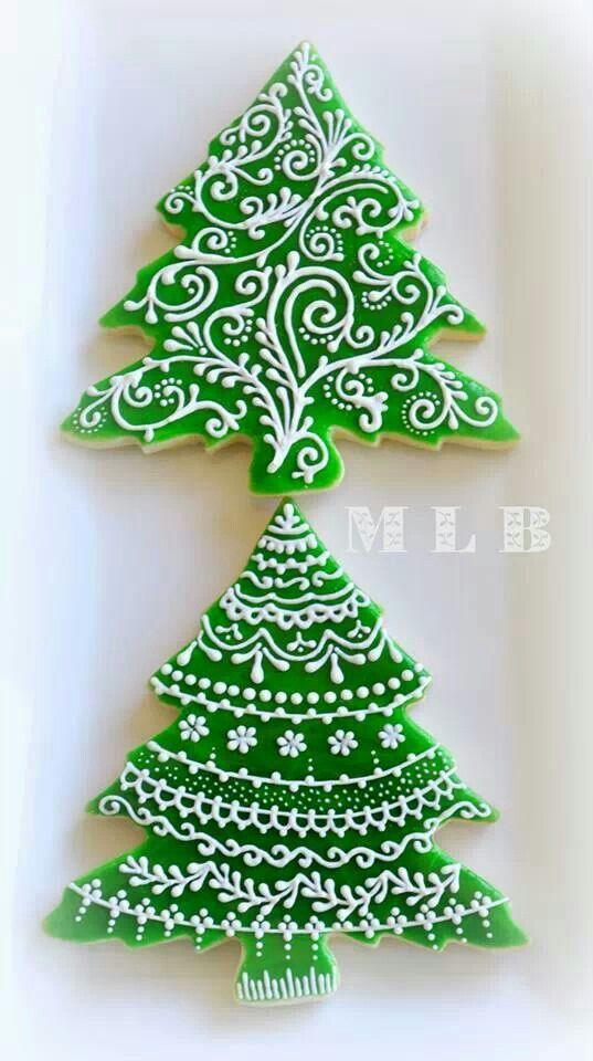 Cookies, Christmas trees