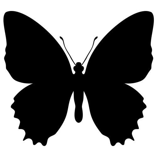 31 best butterfly images on pinterest butterflies insects and silhouette - Pochoir gratuit a imprimer ...