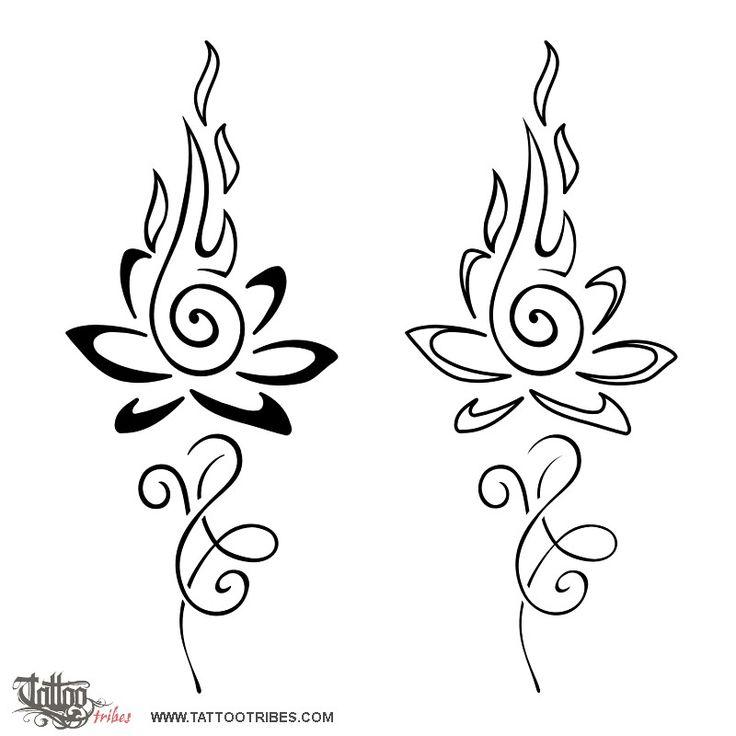 Tatuaggio di Loto infuocato, Eternità perfetta tattoo - custom tattoo designs on TattooTribes.com