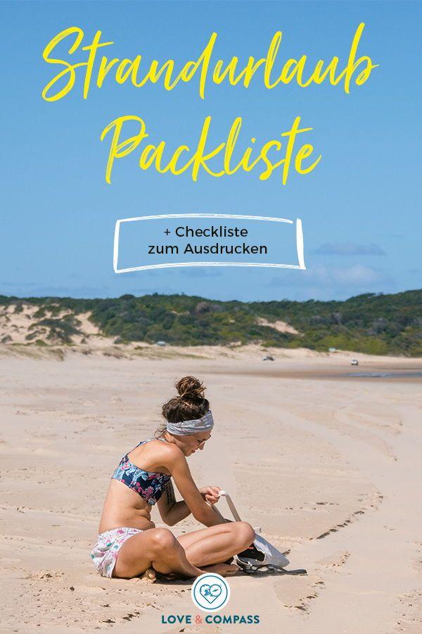 Strandurlaub Packliste: Damit ihr für euren Sommerurlaub perfekt vorbereitet seid, haben wir für euch eine praktische Packliste erstellt. Inklusive Checkliste zum Ausdrucken! Sommer | Urlaub | Meer | Reiseblogger | Tipps | Strandurlaub | Meer