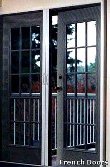 31 best images about french door screens on pinterest for Retractable screen door for outswing door