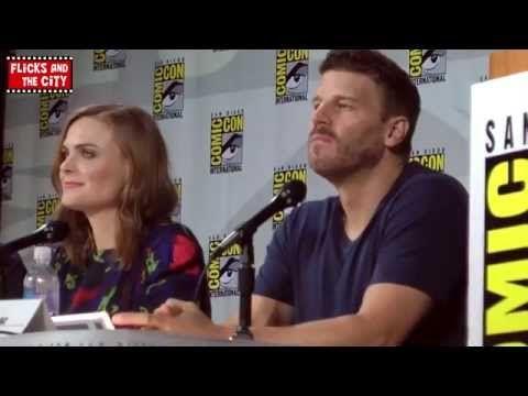 ▶ Bones Season 10 Comic Con Panel 2014 - Emily Deschanel & David Boreanaz - YouTube