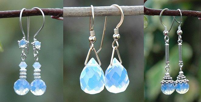 Opalith Ohrringe http://www.steinperlenwelt.de/perlen/edelsteinperlen/opal-glas.html