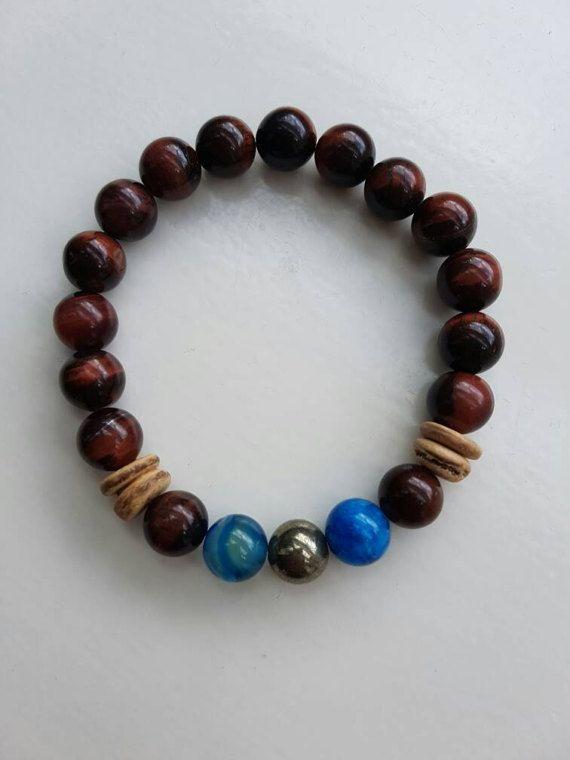Bekijk dit items in mijn Etsy shop https://www.etsy.com/nl/listing/516222361/mannenarmband-natuurstenen