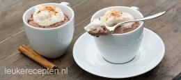 Chocolade slagroom dessert