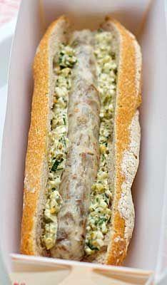 Hotdog de veau sauce gribiche