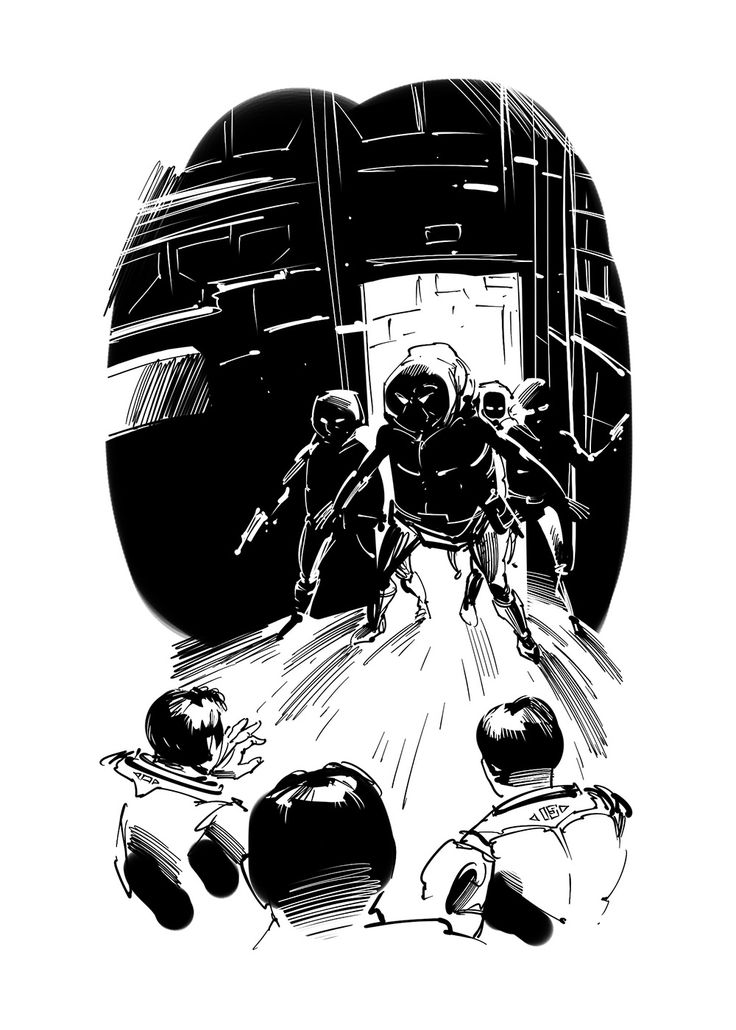 science fiction book illustration