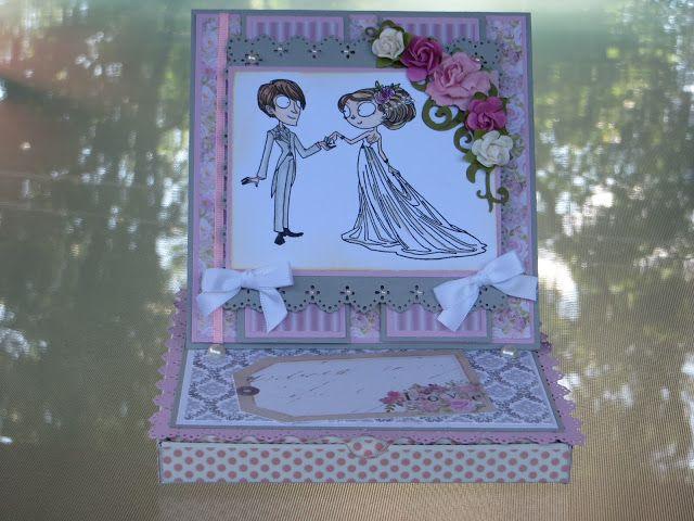 Carte chevalet sur Boitatou. Création de Michèle à la carte. Easel card on a Boitatou. Created by Michèle à la carte.