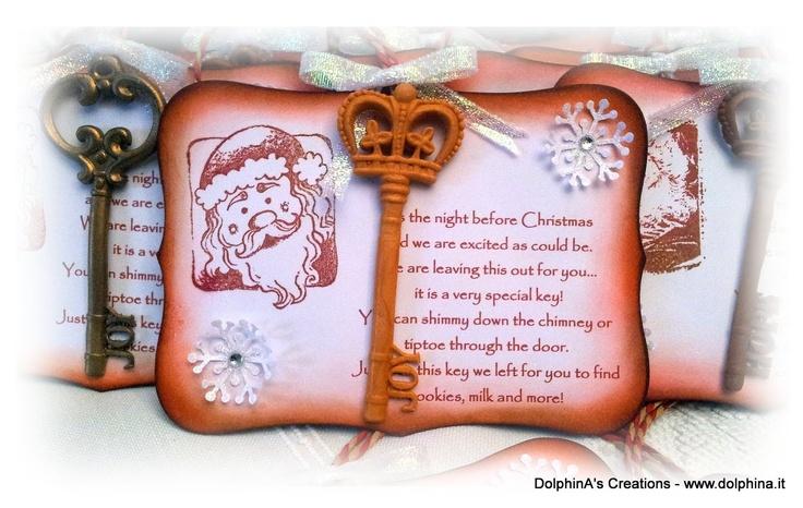 """""""La Chiave Speciale per Babbo Natale!"""" - """"The Special Key for Santa!""""    Created by: Giusy Steri - L'angolo creativo di DolphinA"""