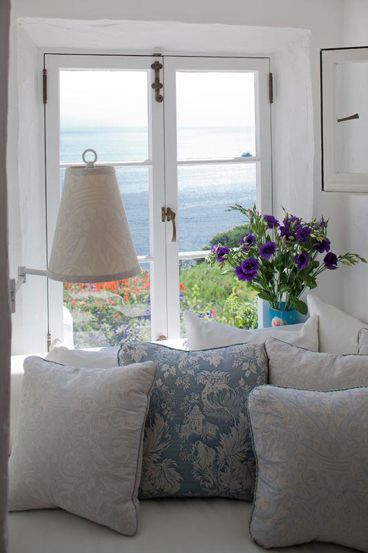 Beautiful window seat with a sea view - #coastalcalm #FashionYourHome