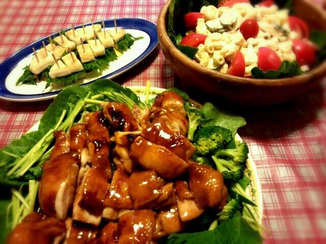 子供のリクエストにより、また作りました(^^) 副菜はマカロニと笹かまぼこです。 - 24件のもぐもぐ - mikisawaさんの照焼きチキン&マカロニサラダ&大葉の笹かまぼこサンド by okinkin