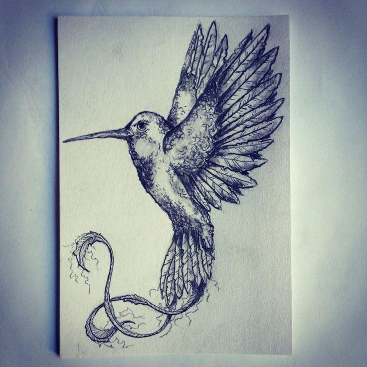 Hummingbird tattoo sketch drawing tattoo ideas by for Drawing design ideas